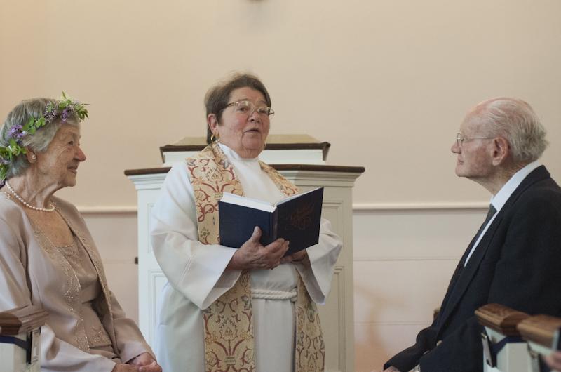 Reverend Arlene Bodge officiated the ceremony.