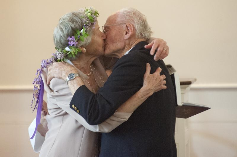 The kiss, and there were many of them