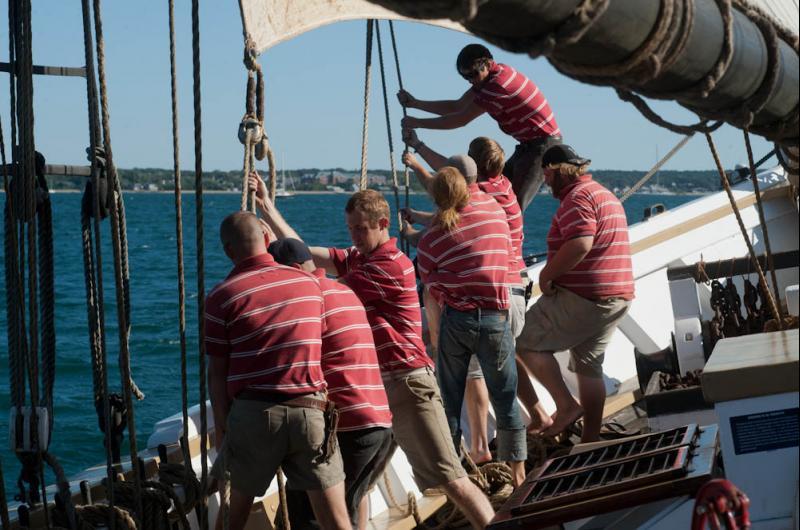 Tighten sail.