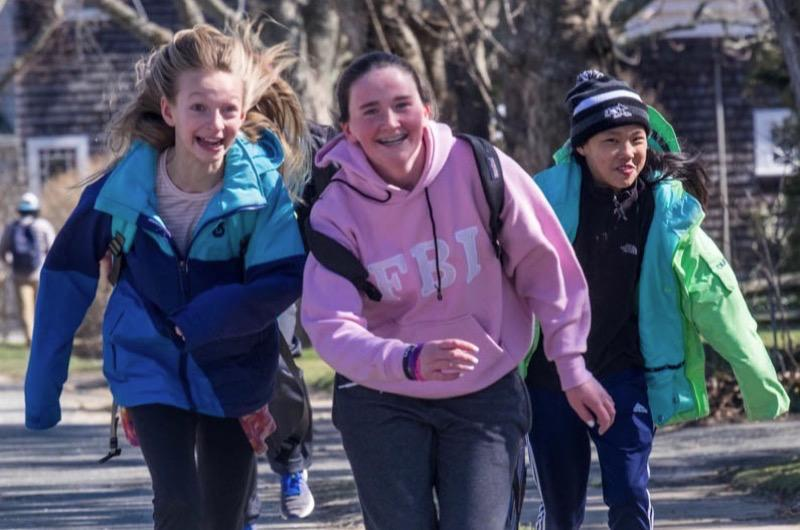 Edgartown School students ran to the store