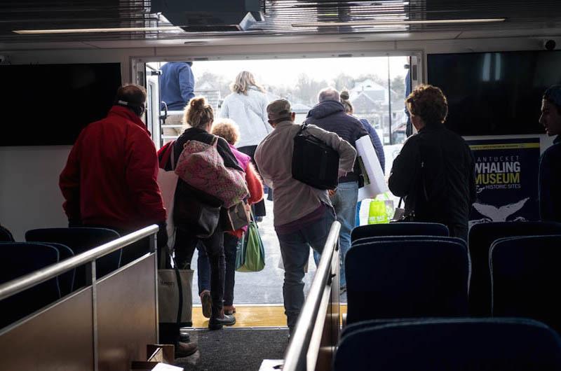 Seastreak arrives in Vineyard Haven.