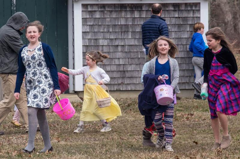 Plenty of fun at the West Tisbury egg hunt.