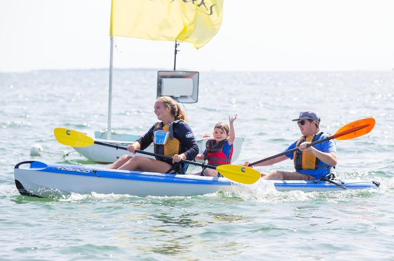 Alley Estrella And Justin Alexander With Stowaway Kian Were First Triple Kayak To Finish Maria Thibodeau